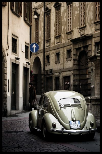 Classic VW Beetle in Italy Poster
