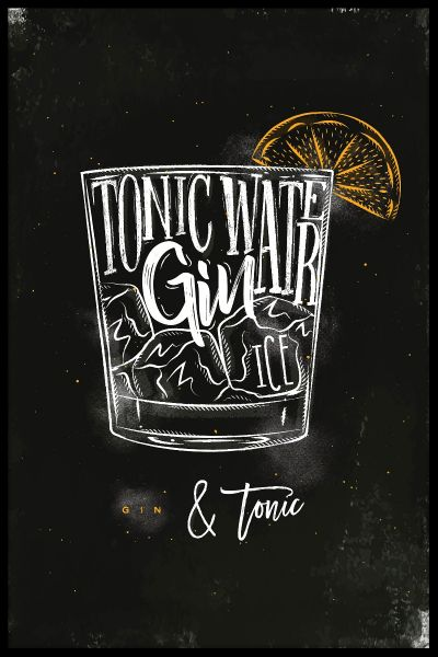 Gin & Tonic Cocktail Poster