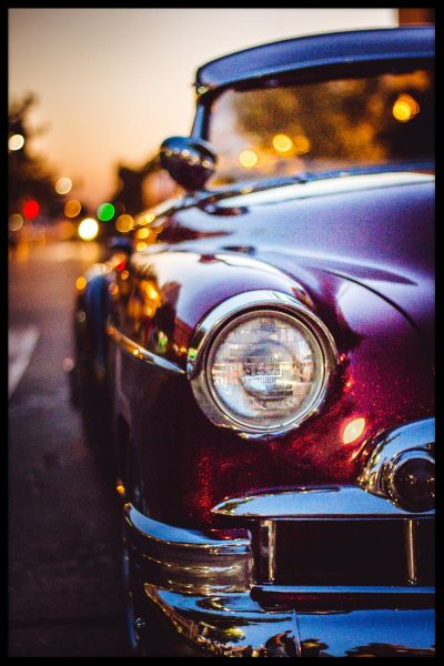 Classic Car Vintage Traffic Poster