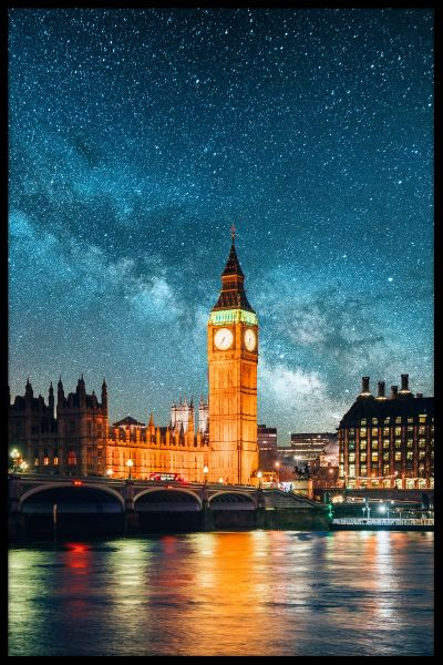 London Under The Stars Poster