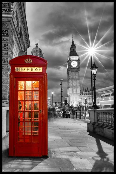London Phone Booth Westminster Poster