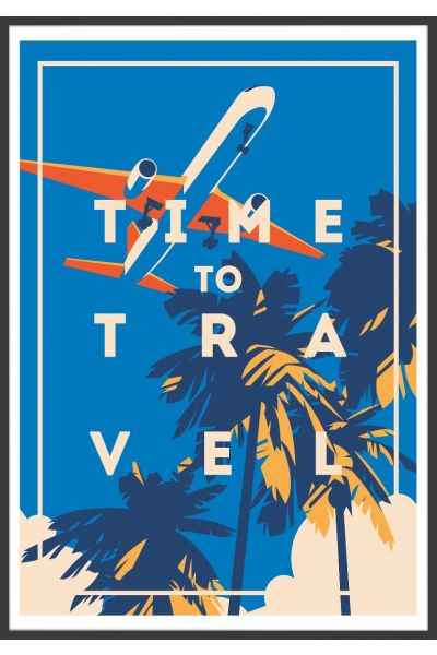 Time To Travel Vintage Poster