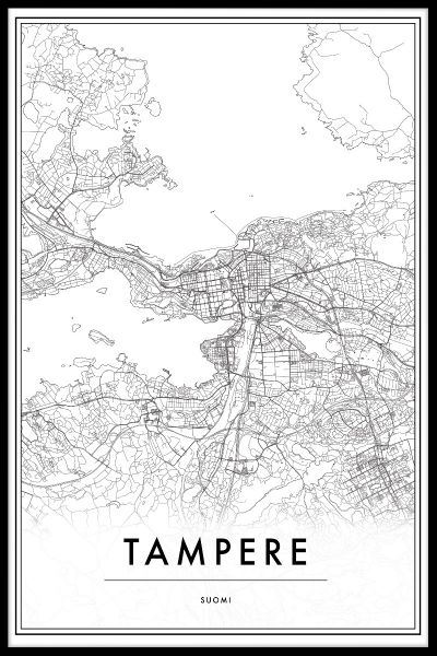 Tampere Finland Map Poster