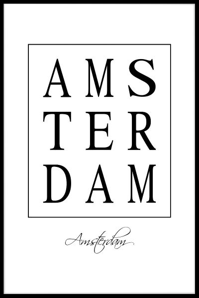 Amsterdam Box Text Poster