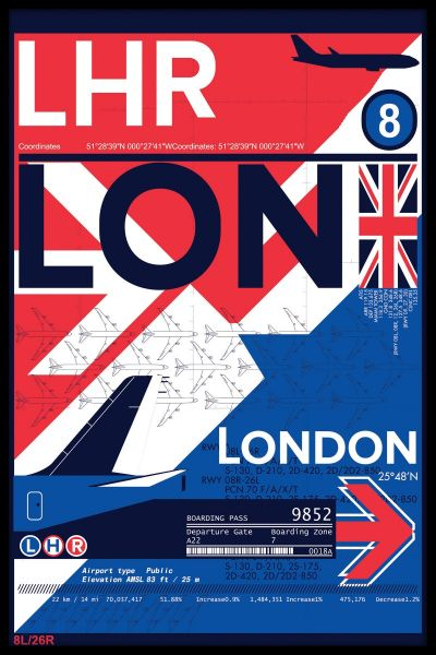 LHR London Airport Poster