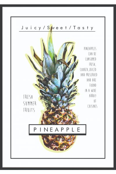 Pineapple Text Poster