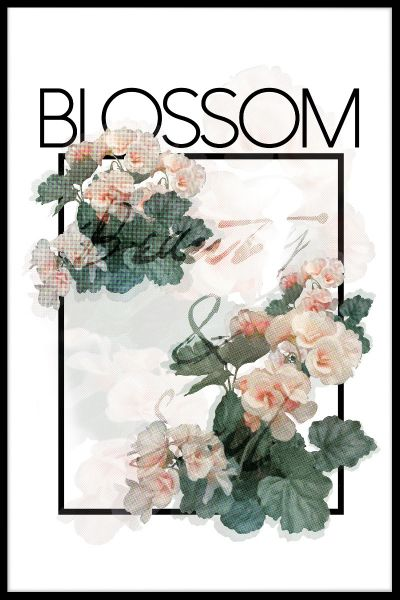 Blossom Text Poster