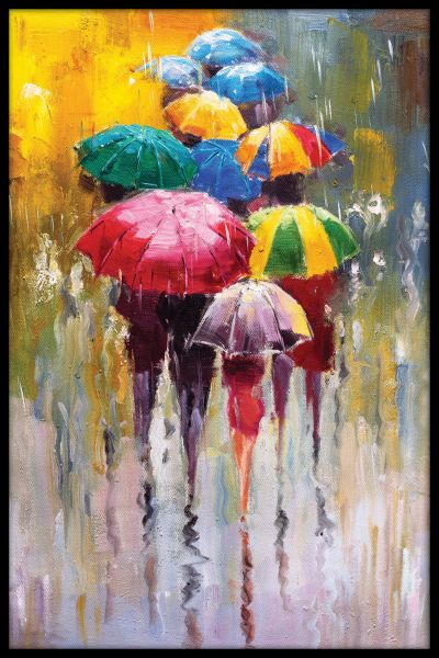 Rainy Day Painting Poster
