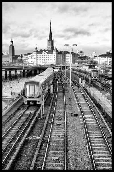 Stockholm Train Tracks Poster