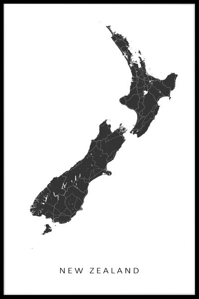 New Zealand Map Poster