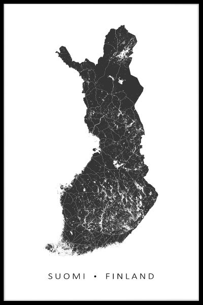 Finland Map N02 Poster
