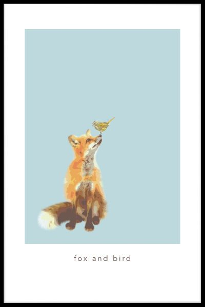 Fox and Bird Poster