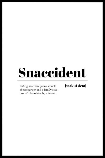Snaccident Poster