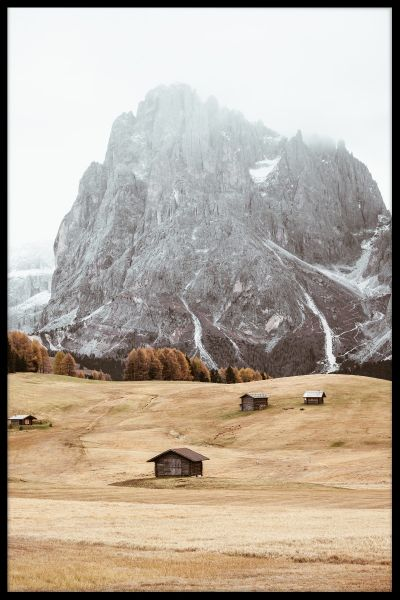 Autumn Alps N03 Poster