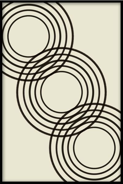 Abstract Rings Art Poster