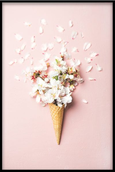 Waffle Cone Flower Poster