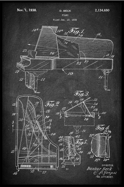 Piano Patent Poster