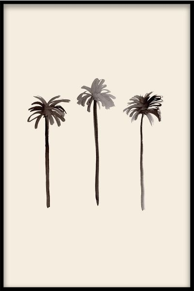 Palm Trees Ink Poster