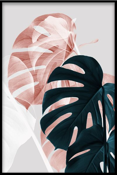 Abstract Monstera N02 Poster
