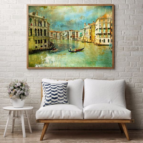 Old Venice Oil Painting Tavla