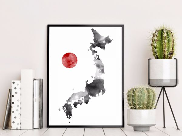 Japan Map Illustration Tavla