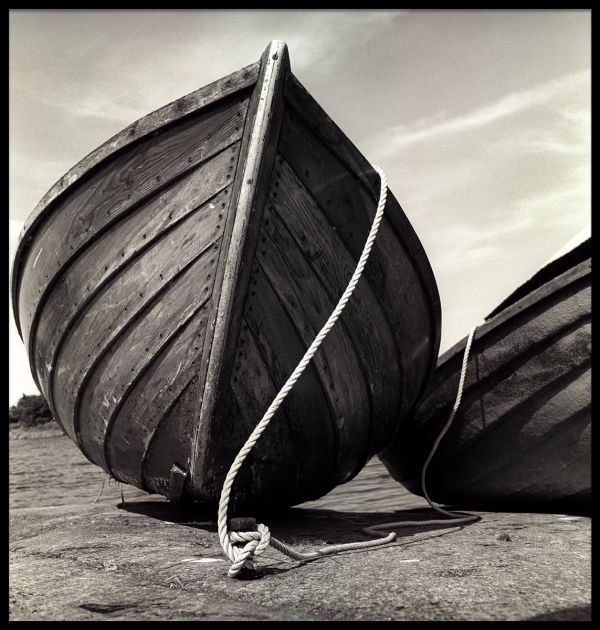 Old Wooden Row Boat Poster Poster