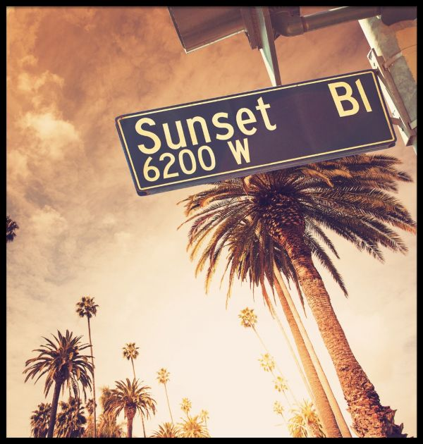 Sunset Boulevard Sign Poster
