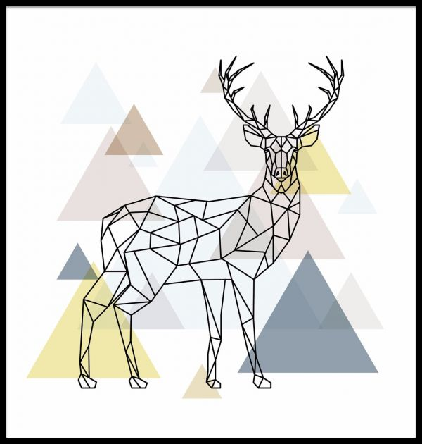 Abstract Deer Poster