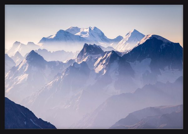 Beautiful Misty Mountains Poster