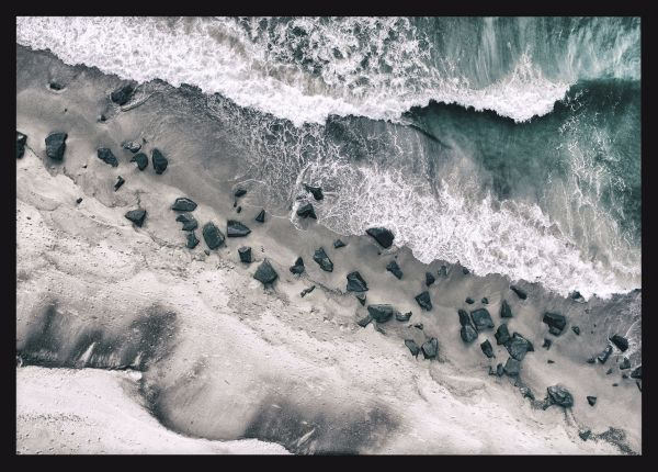 Rocky Shore Aerial Poster
