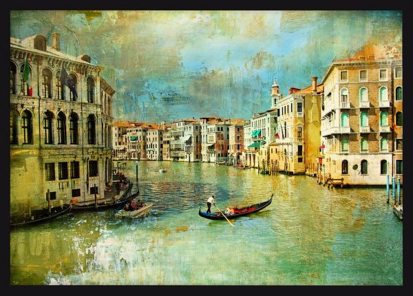 Old Venice Oil Painting Poster