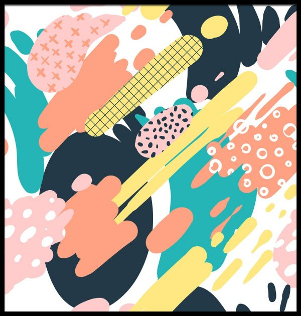 Abstract Retro Patterns Poster