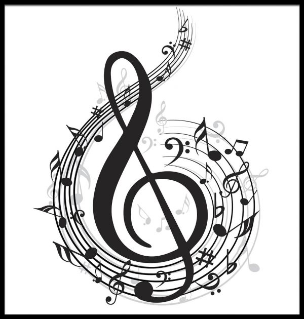 Music Note Illustration Poster