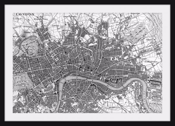 Old London Map Poster