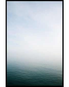 Misty Sea Horizon Poster
