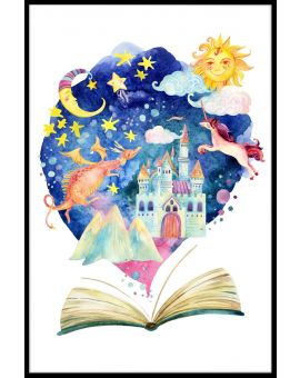 Watercolor Children's Book Adventure Poster