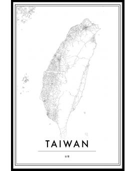 Taiwan Map Poster