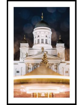 Helsinki Cathedral at Night Poster