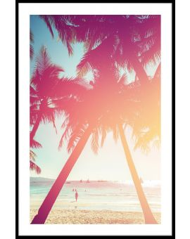 Beach Palm Tree N02 Poster
