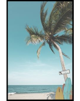 Surf Beach Palm Poster