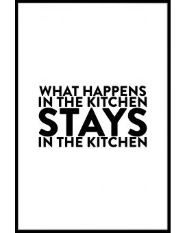What Happens in The Kitchen Poster
