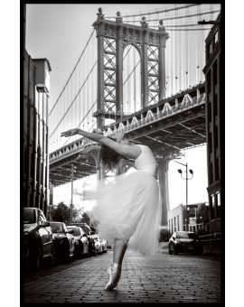 Brooklyn Ballerina Poster