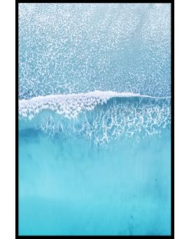 Aerial Beach Wave Poster