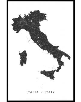 Italy Map N02 Poster