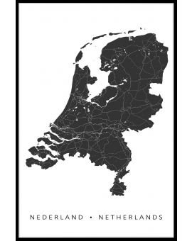 Netherlands Map Poster