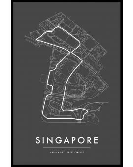 Singapore Marina Bay Circuit Poster
