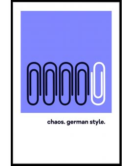Chaos German Style Poster