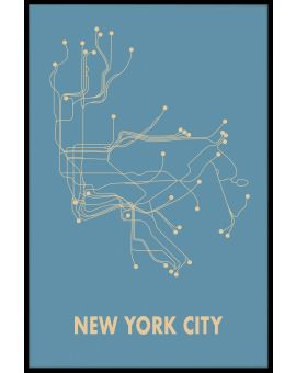 New York Metro Map Poster