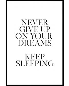 Keep Sleeping Poster