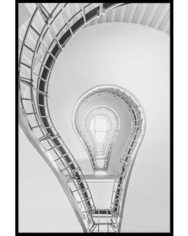 Lightbulb Staircase Poster